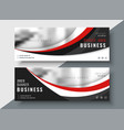 red and black business banners professional design vector image
