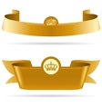 Ribbons with Crown vector image vector image