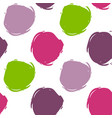 seamless decorative pattern with ink draw circles vector image vector image