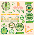 Set of bio and organic badges vector image