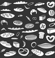 Set of doodles bread vector image vector image