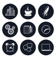 Set of Round Business Icons Team Work vector image vector image