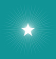 simple graphic of star burst vector image vector image