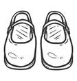 sketch vintage women clasp shoes vector image vector image