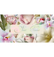 spring flowers watercolor background vector image vector image