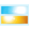 summer sky banners vector image vector image