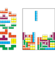 Tetris pieces vector image vector image