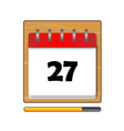 The Twenty-seven days on the calendar vector image