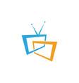 tv icon logo design vector image vector image
