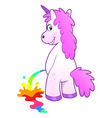 Unicorn pissing rainbow vector image