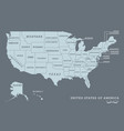 usa map with name of states vector image vector image