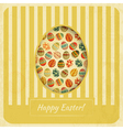 Vintage yellow easter card vector | Price: 3 Credits (USD $3)