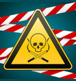 warning sign smoking leads to death caution - vector image