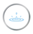 Water drop icon of for web and vector image vector image