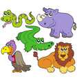 wildlife cute animals collection vector image