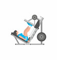 woman doing leg presses vector image vector image