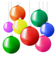 christmas tree balls in different colors hanging vector image