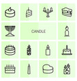 14 candle icons vector image vector image