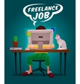 a man freelance vector image vector image