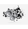 abstract music background with subwoofer vector image vector image