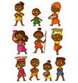 african people set isolated on white background vector image
