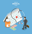 annual medical exam of isometric flat vector image vector image