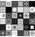 black and white modern ceramic tiles vector image vector image