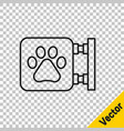 black line veterinary clinic symbol icon isolated vector image vector image