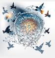 boho dreamcatcher with hummingbirds and dandelions vector image vector image