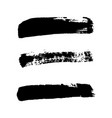brush strokes set isolated white background vector image vector image