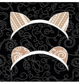Cat and bear ears vector image