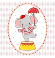 Circus happy birthday card design vector image vector image