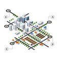 city isometric infographics there are diagram vector image vector image