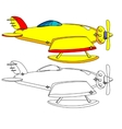 Color and Outline Version of the Aircraft vector image vector image