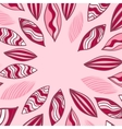 Colored frame with leaf in pink vector image vector image