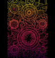 decorative abstract background psychedelic vector image vector image