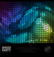 disco digital background vector image
