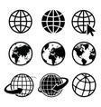 earth icon element nasa vector image vector image