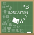 education icons on the blackboard vector image vector image