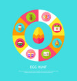 egg hunt concept vector image vector image