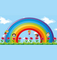 fairies flying over the rainbow vector image
