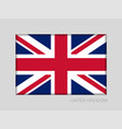 flag of united kingdom national ensign aspect vector image