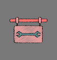 Flat icon design collection wrench sign in