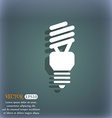 fluorescent lamp icon On the blue-green abstract vector image