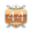 Forty four years anniversary celebration silver vector image vector image