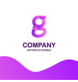 g company logo design with purple theme vector image vector image