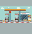 gas station flat vector image