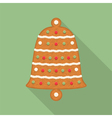 Gingerbread Bell vector image vector image