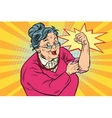 Granny old lady We can do it vector image vector image
