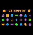 halloween icon set isolated colorful halloween vector image